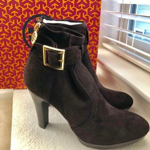Tory Burch Melrose Kid Suede ankle boots